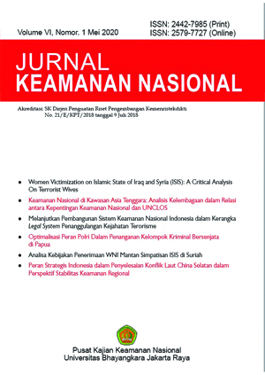 Jurnal Keamanan Nasional Vol 4, No 1, 2018
